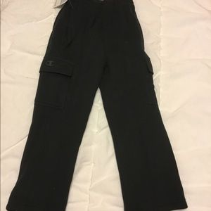 Boys brand new Champion black sweatpants size 5